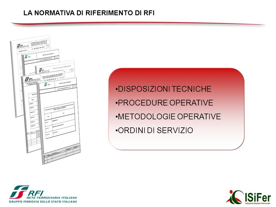 DISPOSIZIONI TECNICHE PROCEDURE OPERATIVE METODOLOGIE OPERATIVE