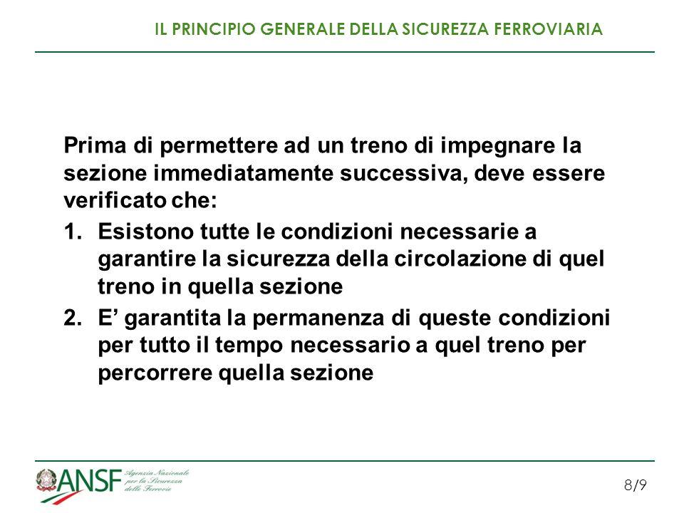 IL PRINCIPIO GENERALE DELLA SICUREZZA FERROVIARIA
