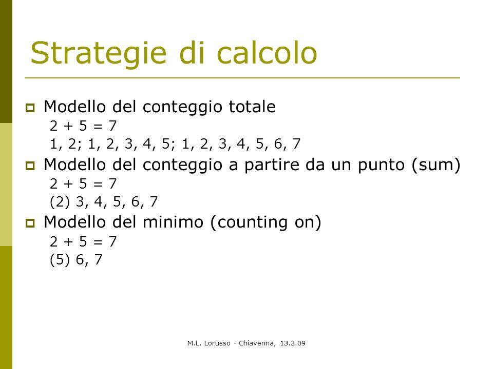 Strategie di calcolo Modello del conteggio totale