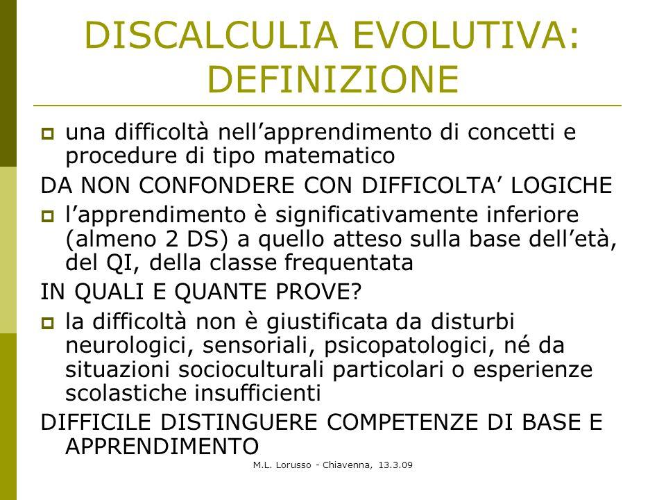 DISCALCULIA EVOLUTIVA: DEFINIZIONE