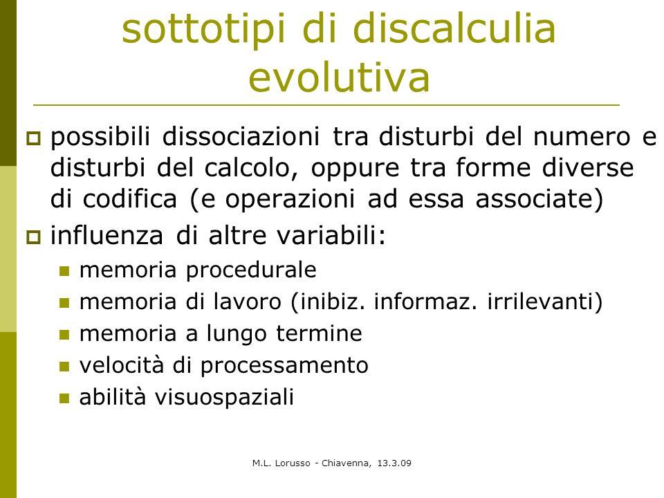 sottotipi di discalculia evolutiva