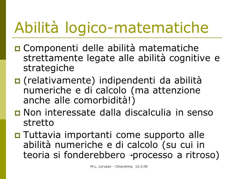 Abilità logico-matematiche