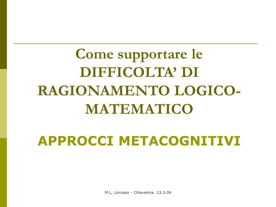 Come supportare le DIFFICOLTA' DI RAGIONAMENTO LOGICO-MATEMATICO
