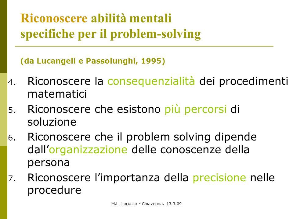 Riconoscere abilità mentali specifiche per il problem-solving