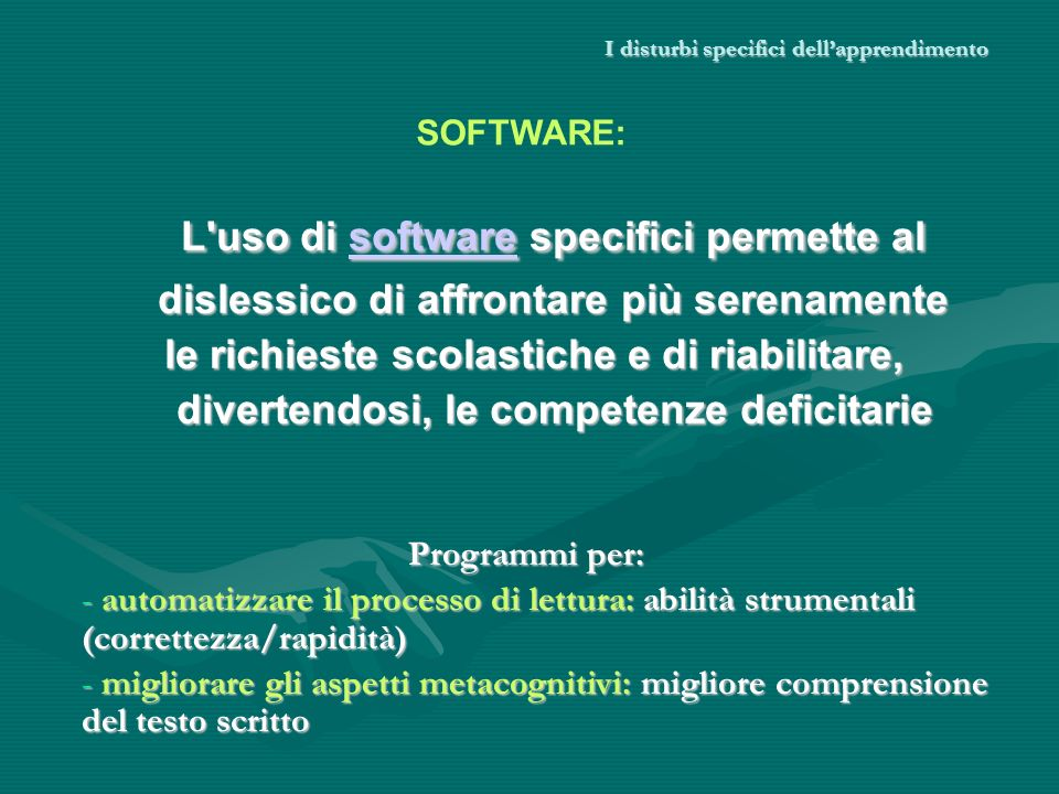 I disturbi specifici dell'apprendimento
