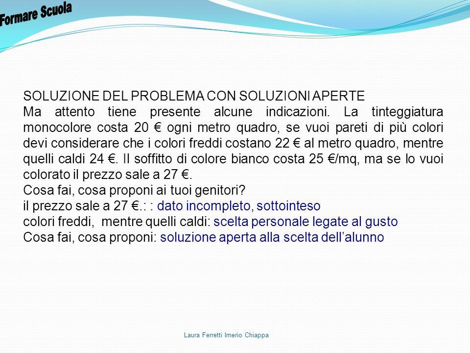 Formare Scuola SOLUZIONE DEL PROBLEMA CON SOLUZIONI APERTE