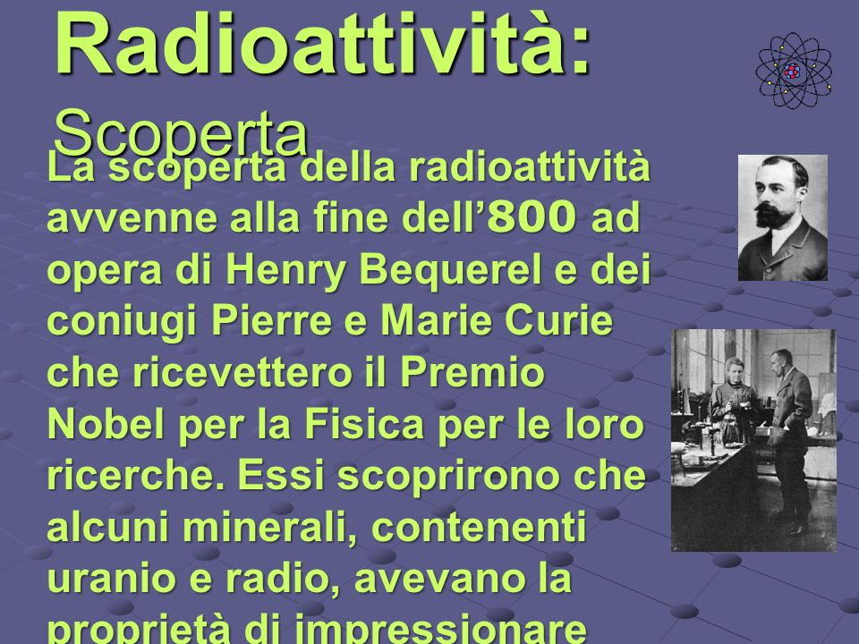 Radioattività: Scoperta