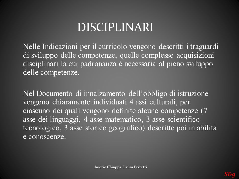 DISCIPLINARI