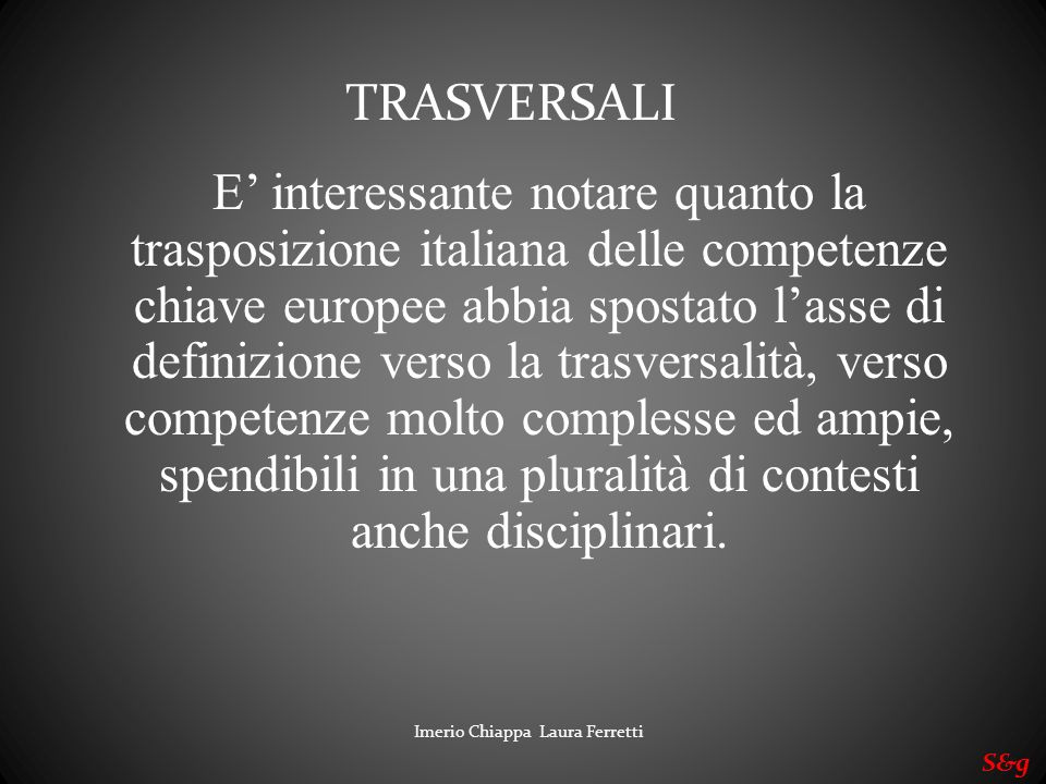 TRASVERSALI