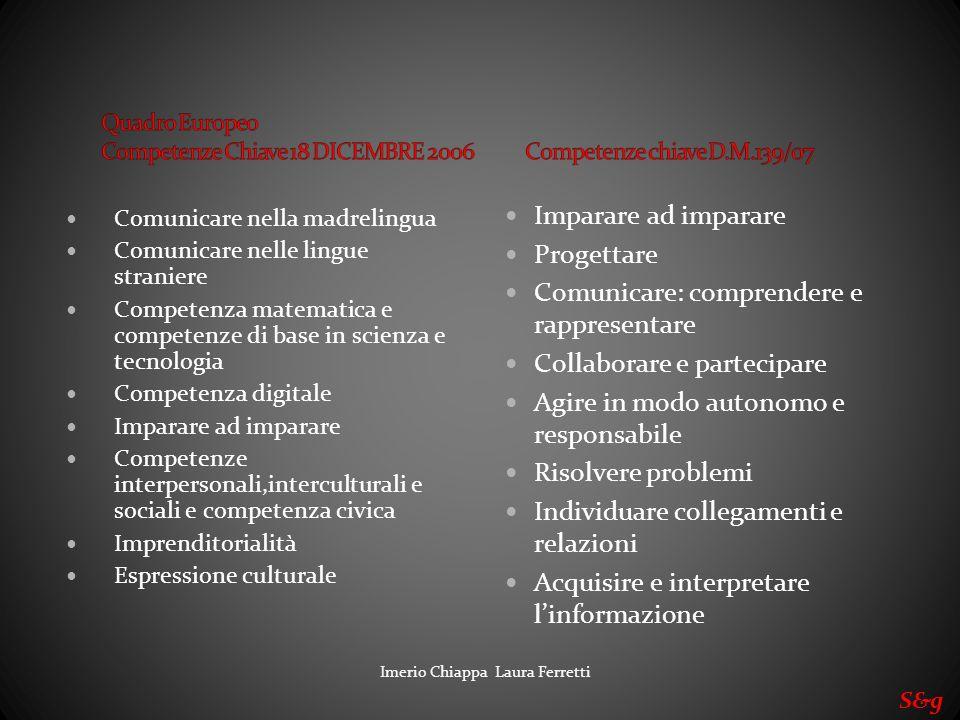 Comunicare: comprendere e rappresentare Collaborare e partecipare