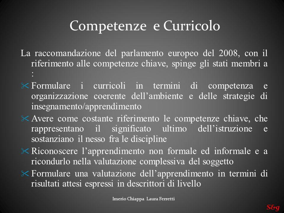 Competenze e Curricolo