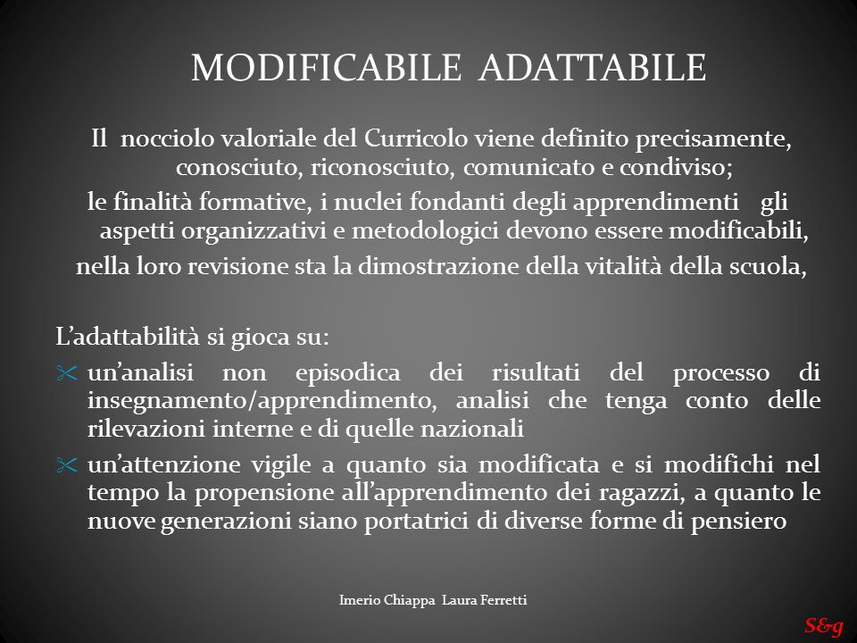 MODIFICABILE ADATTABILE