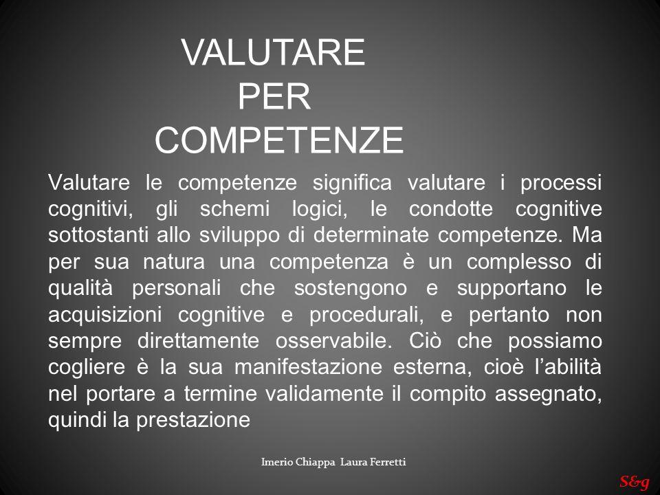 VALUTARE PER COMPETENZE