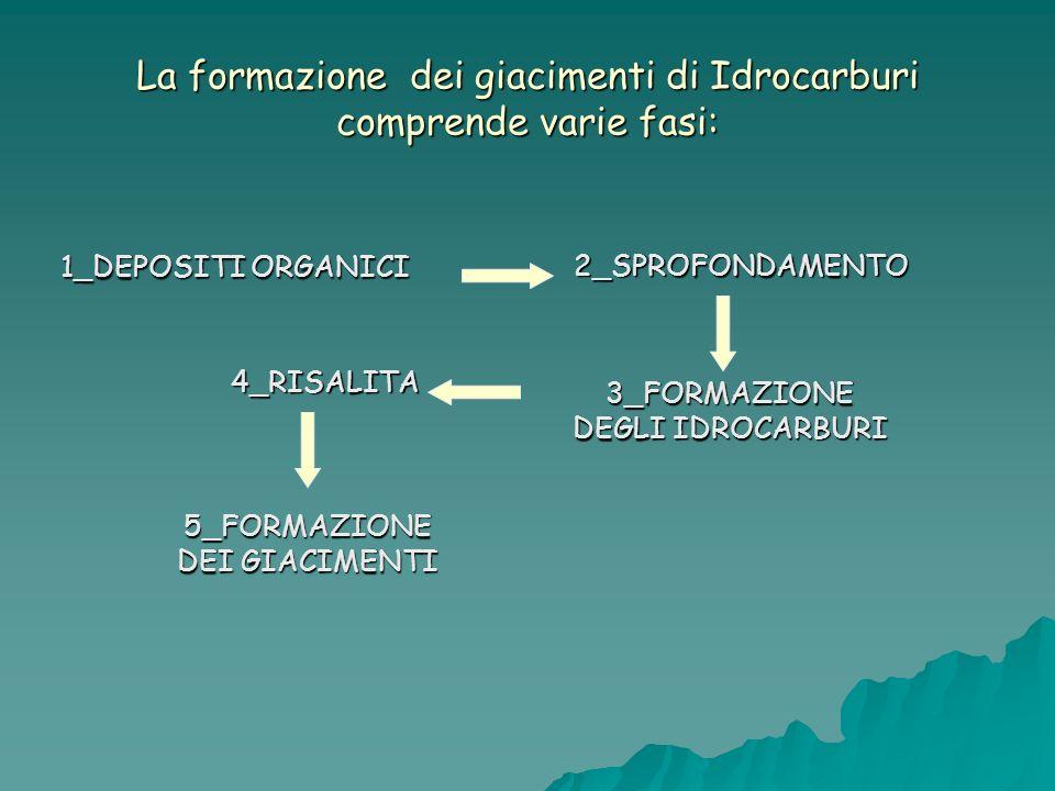 La formazione dei giacimenti di Idrocarburi comprende varie fasi: