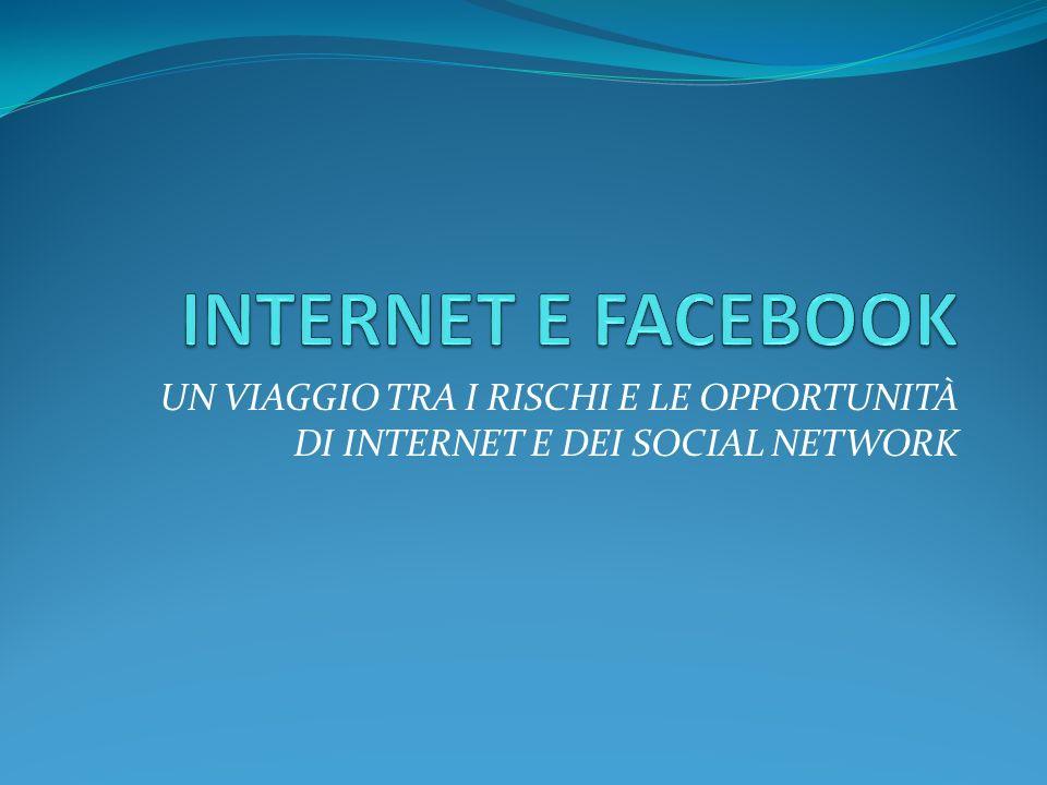 INTERNET E FACEBOOK UN VIAGGIO TRA I RISCHI E LE OPPORTUNITÀ DI INTERNET E DEI SOCIAL NETWORK