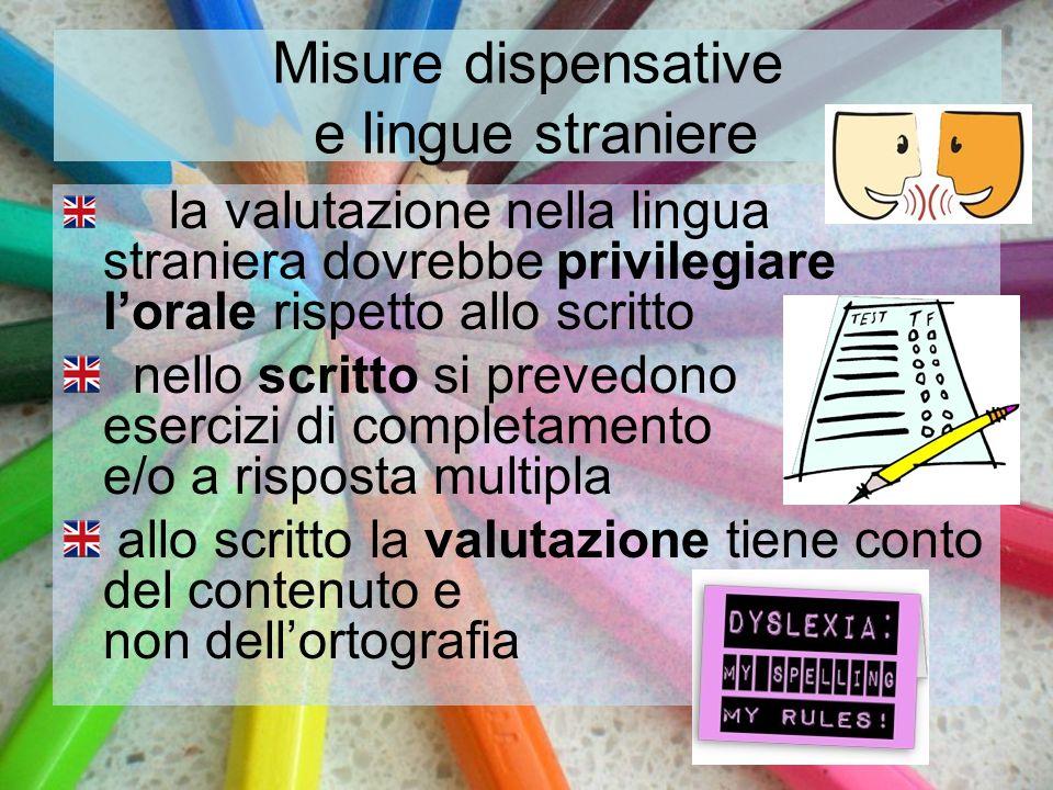 Misure dispensative e lingue straniere