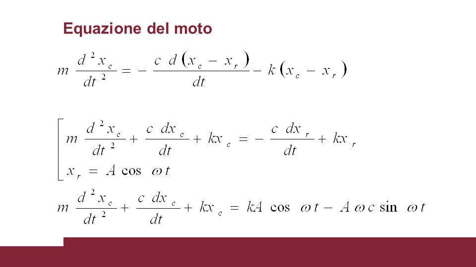 Equazione del moto