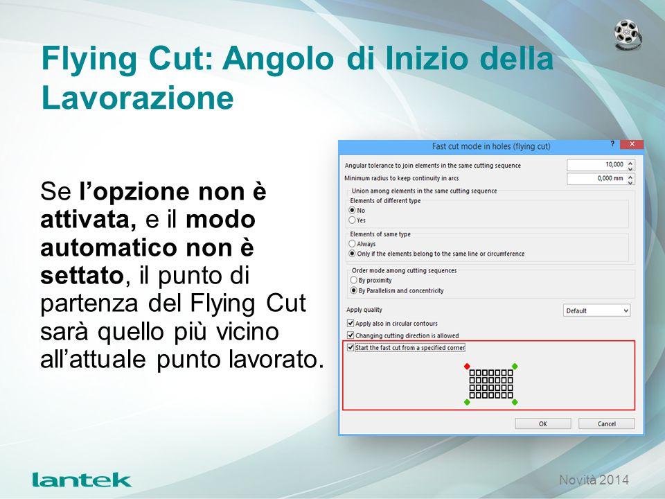 Flying Cut: Angolo di Inizio della Lavorazione