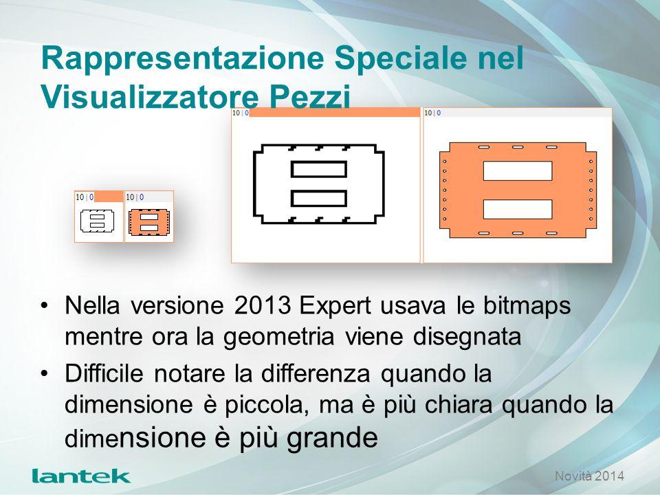 Rappresentazione Speciale nel Visualizzatore Pezzi