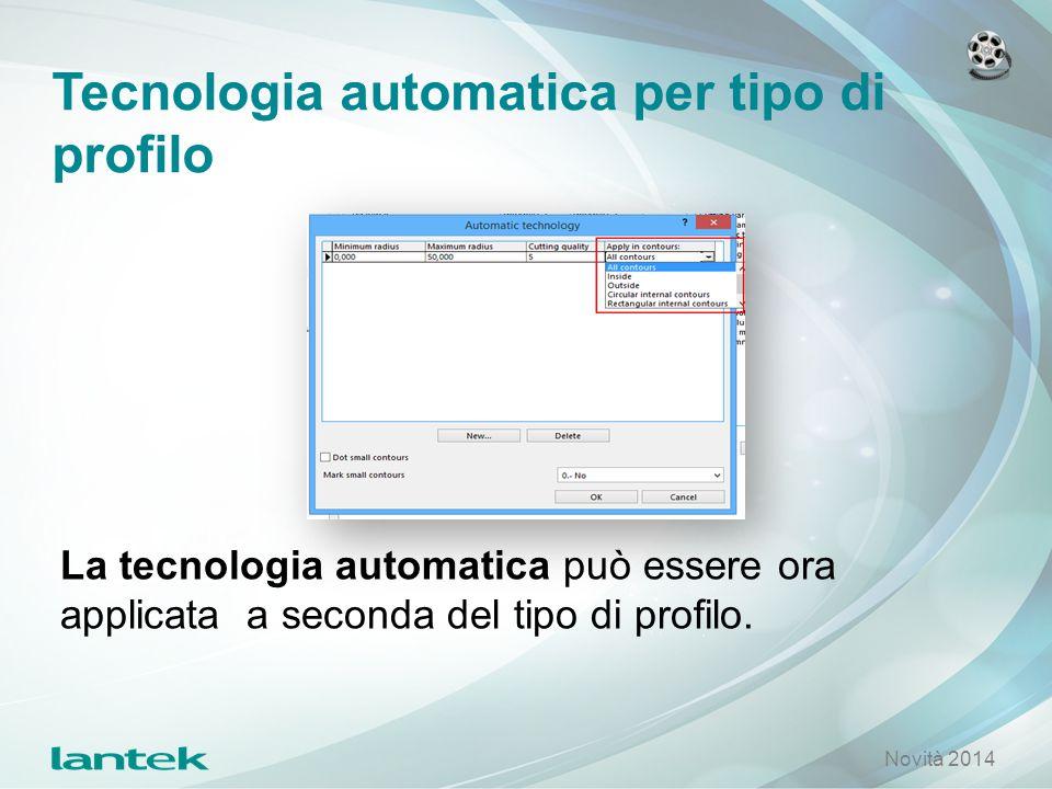 Tecnologia automatica per tipo di profilo