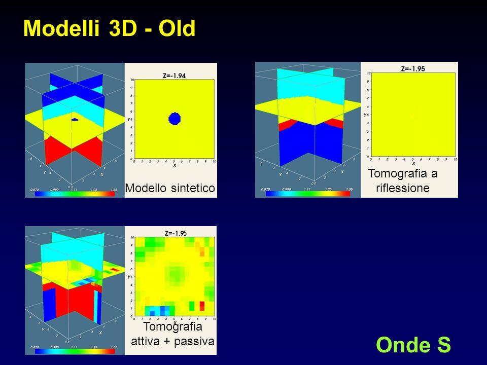 Modelli 3D - Old Onde S Tomografia a riflessione Modello sintetico