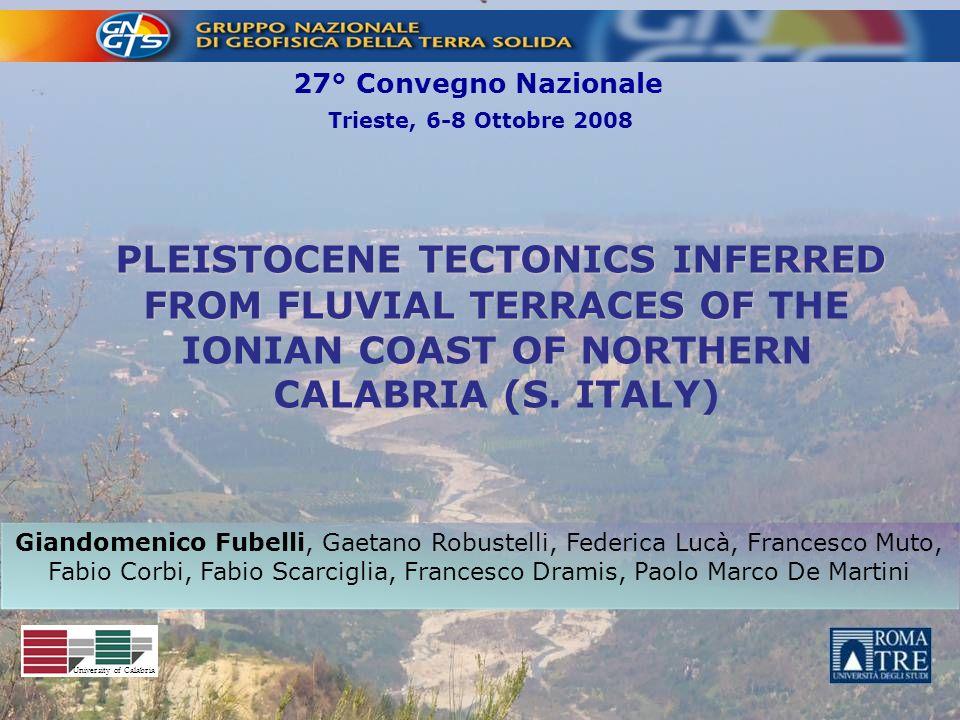 27° Convegno Nazionale Trieste, 6-8 Ottobre 2008.