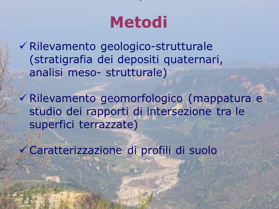 Metodi Rilevamento geologico-strutturale (stratigrafia dei depositi quaternari, analisi meso- strutturale)