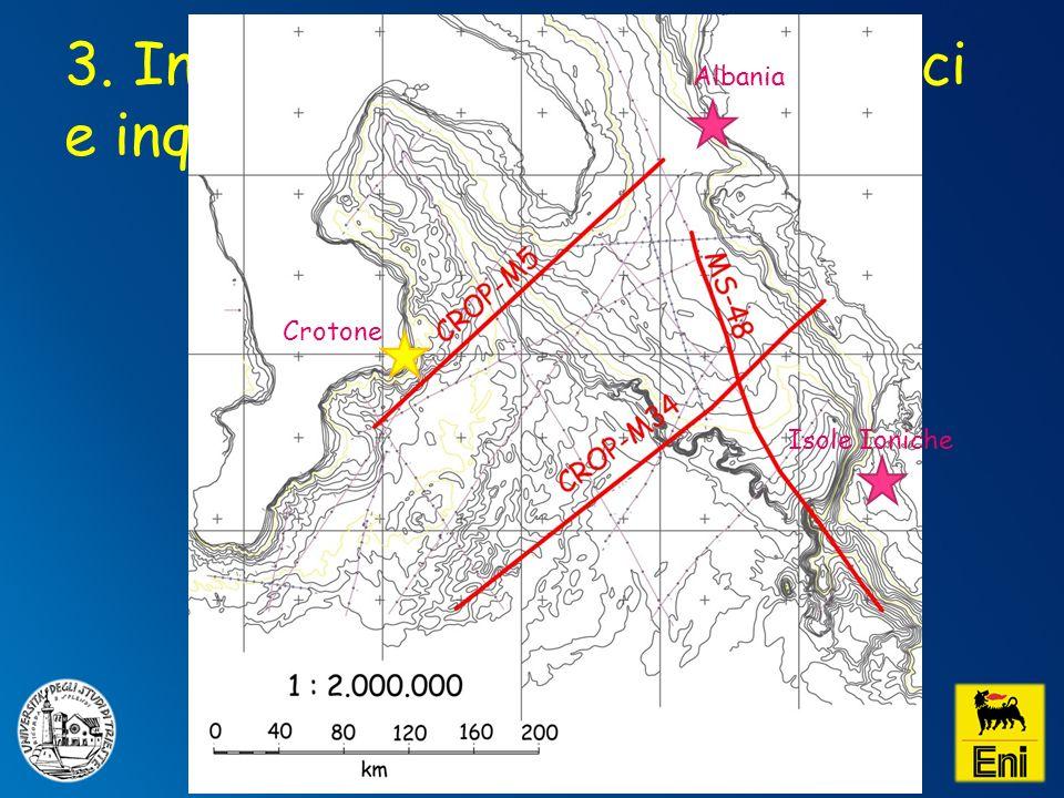 3. Interpretazione profili sismici e inquadramento geologico