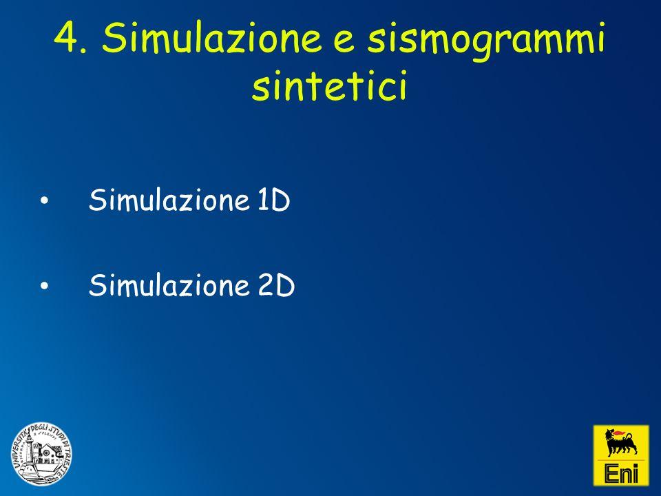 4. Simulazione e sismogrammi sintetici