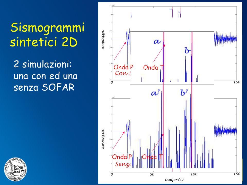 Sismogrammi sintetici 2D