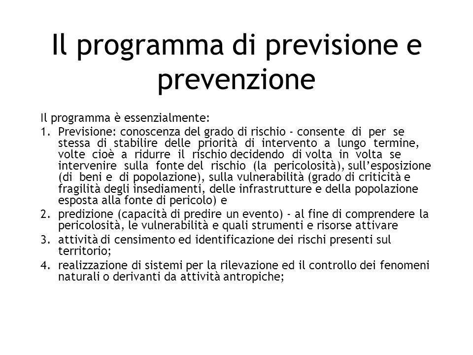Il programma di previsione e prevenzione