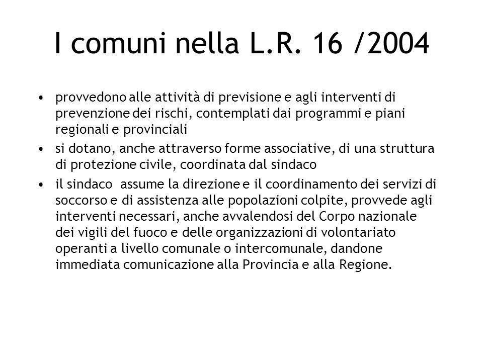 I comuni nella L.R. 16 /2004