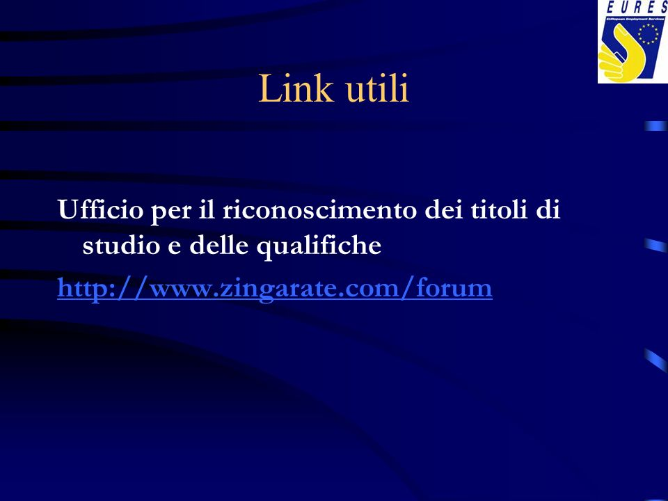Link utiliUfficio per il riconoscimento dei titoli di studio e delle qualifiche.