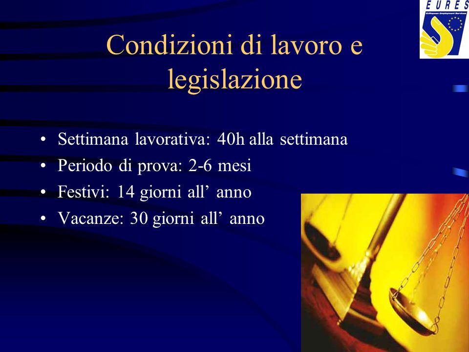 Condizioni di lavoro e legislazione
