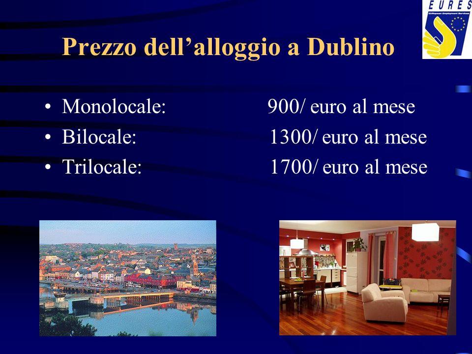 Prezzo dell'alloggio a Dublino