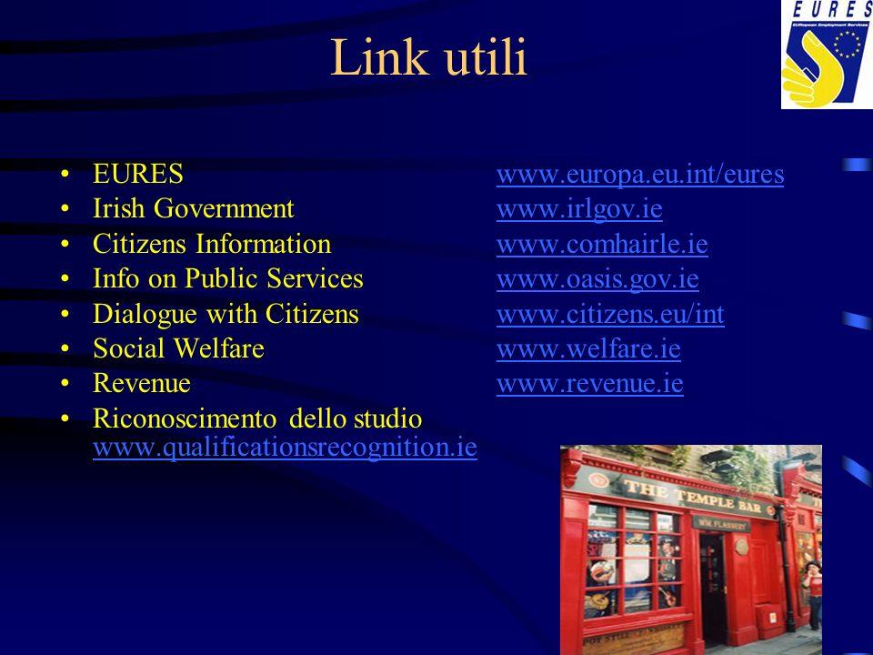 Link utili EURES www.europa.eu.int/eures