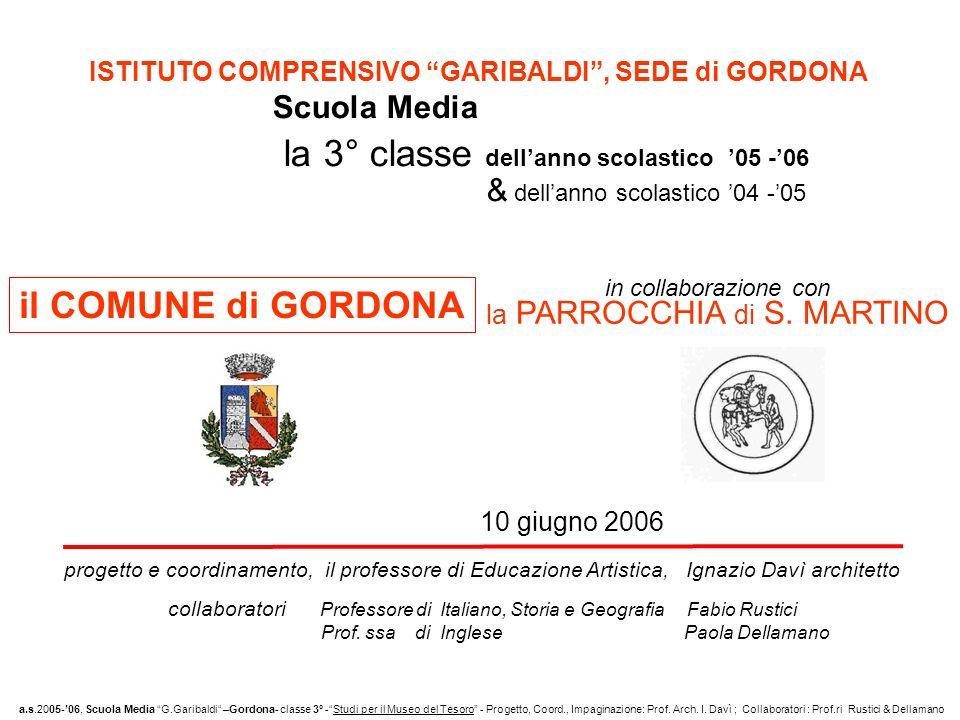 ISTITUTO COMPRENSIVO GARIBALDI , SEDE di GORDONA