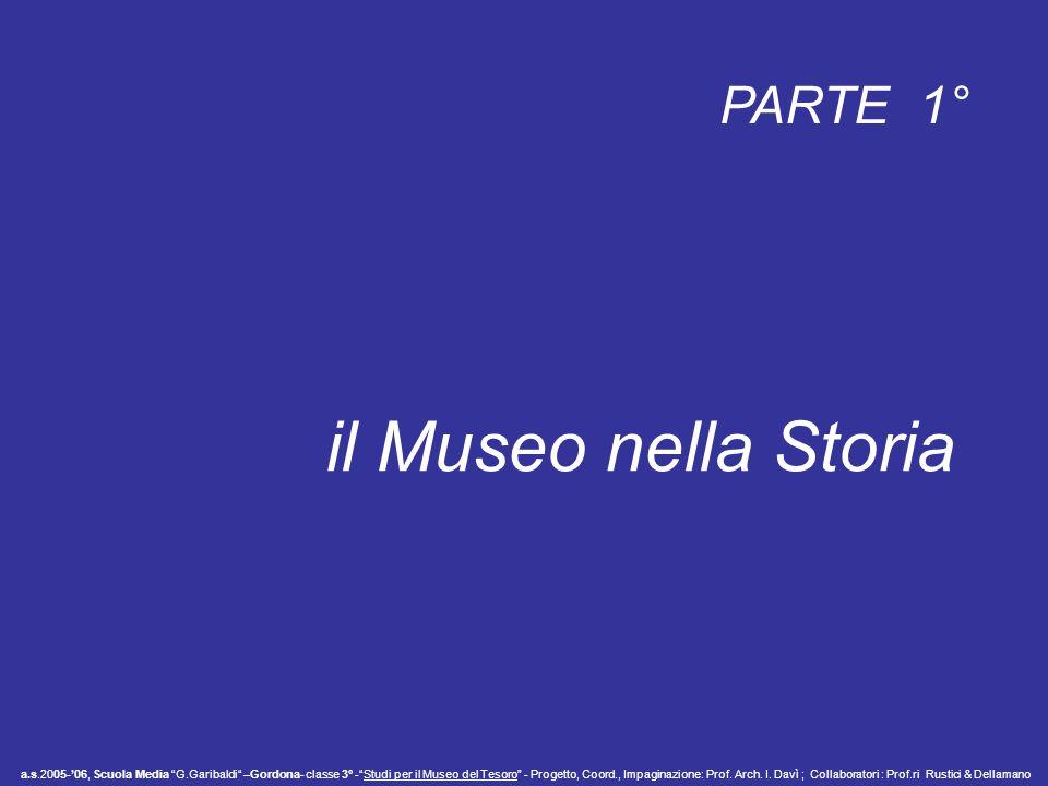 il Museo nella Storia PARTE 1°