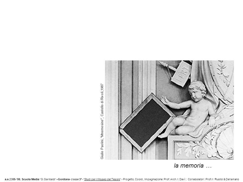 la memoria … Giulio Paolini, Mnemosine , Castello di Rivoli,1987
