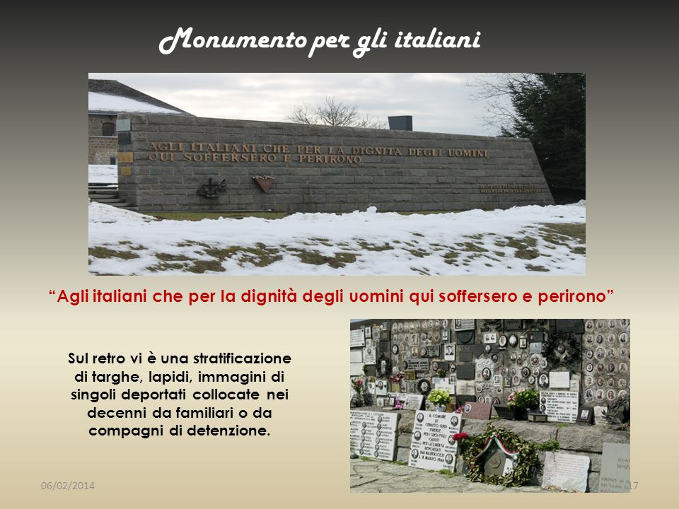 Monumento per gli italiani