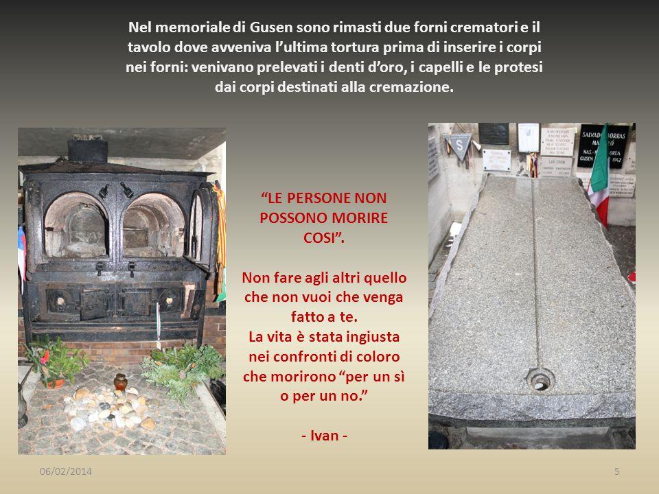 LE PERSONE NON POSSONO MORIRE COSI .