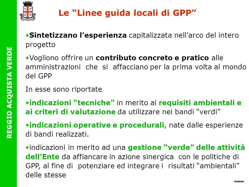 Le Linee guida locali di GPP