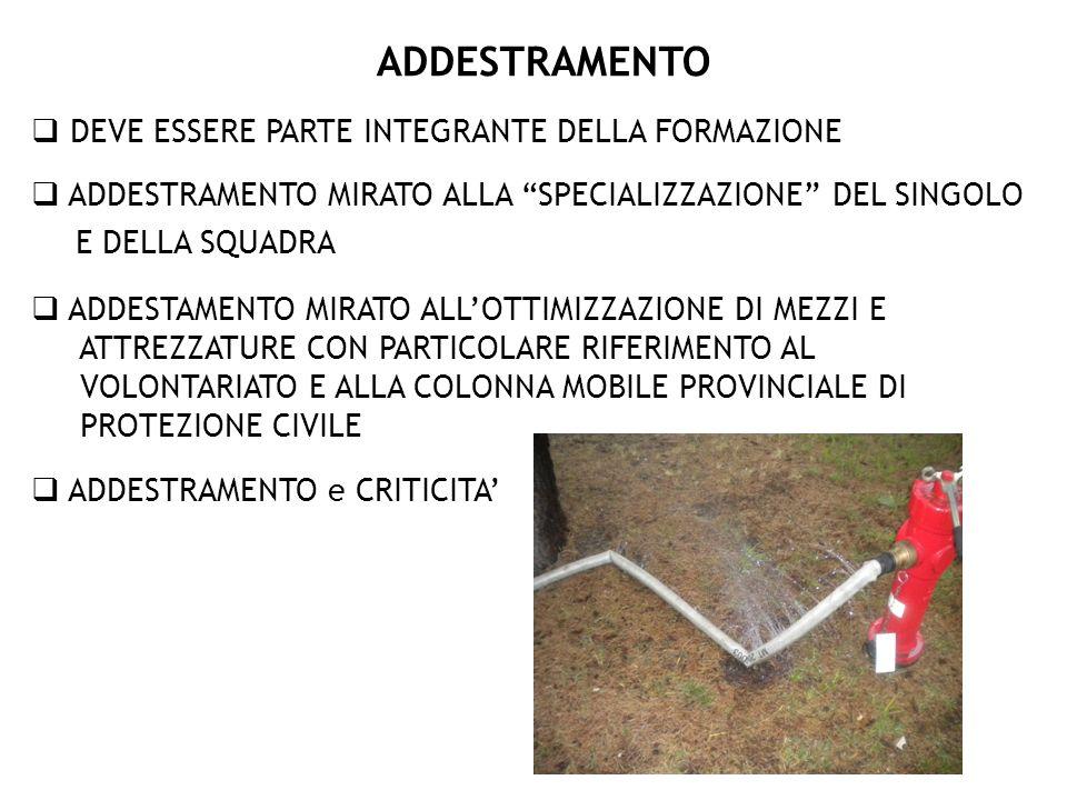 ADDESTRAMENTO E DELLA SQUADRA
