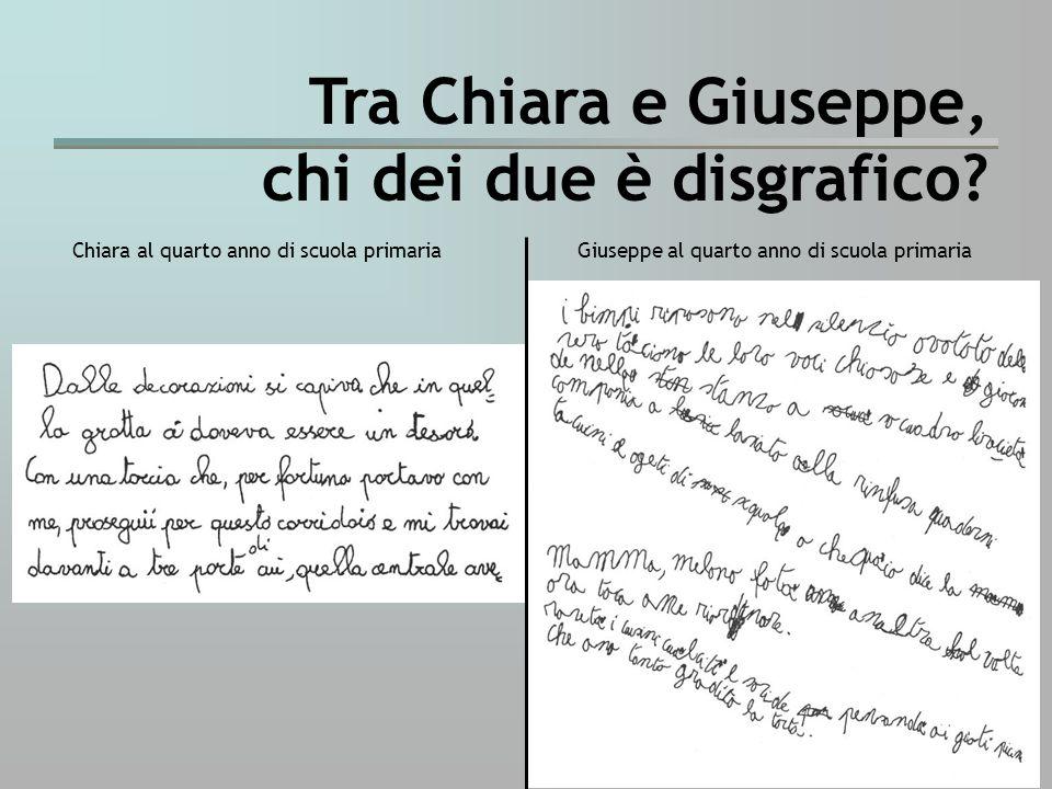 Tra Chiara e Giuseppe, chi dei due è disgrafico