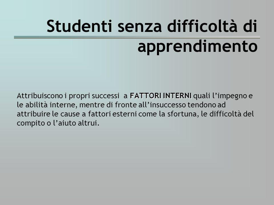 Studenti senza difficoltà di apprendimento