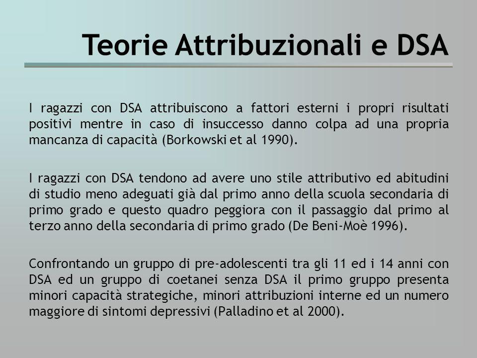 Teorie Attribuzionali e DSA