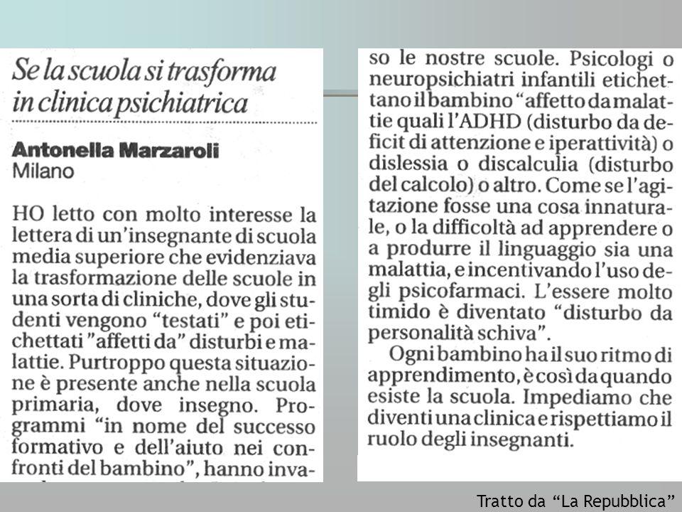 Tratto da La Repubblica