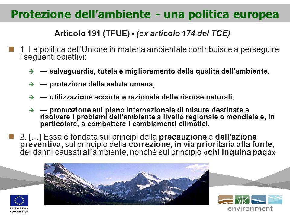 Protezione dell'ambiente - una politica europea