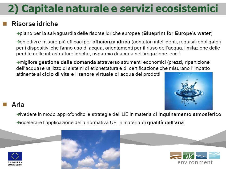 2) Capitale naturale e servizi ecosistemici