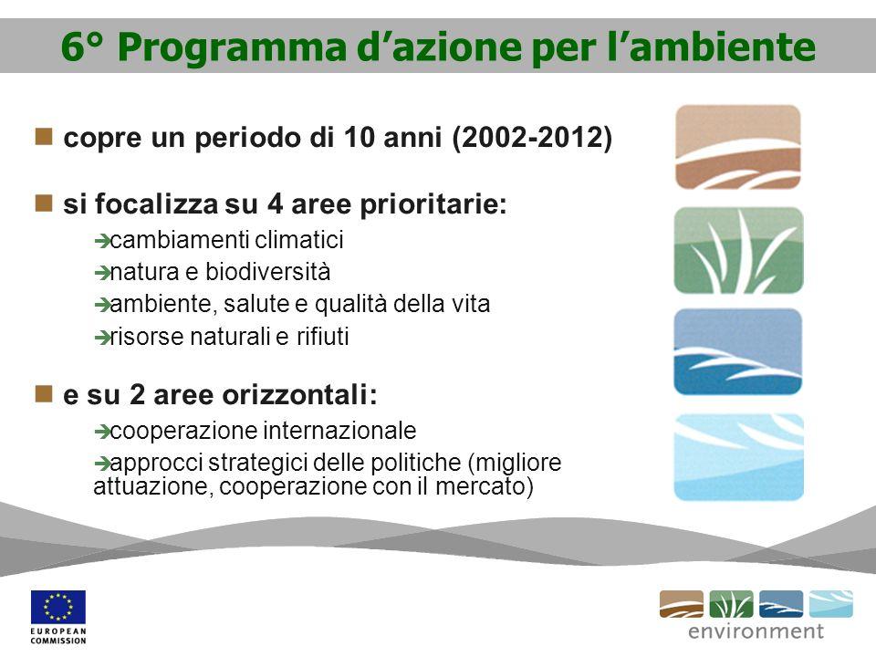 6° Programma d'azione per l'ambiente